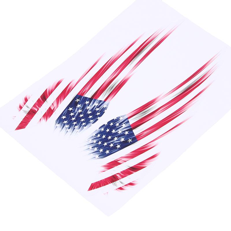 American Usa Flag Wing Emblem Badge Car Window Door Fender