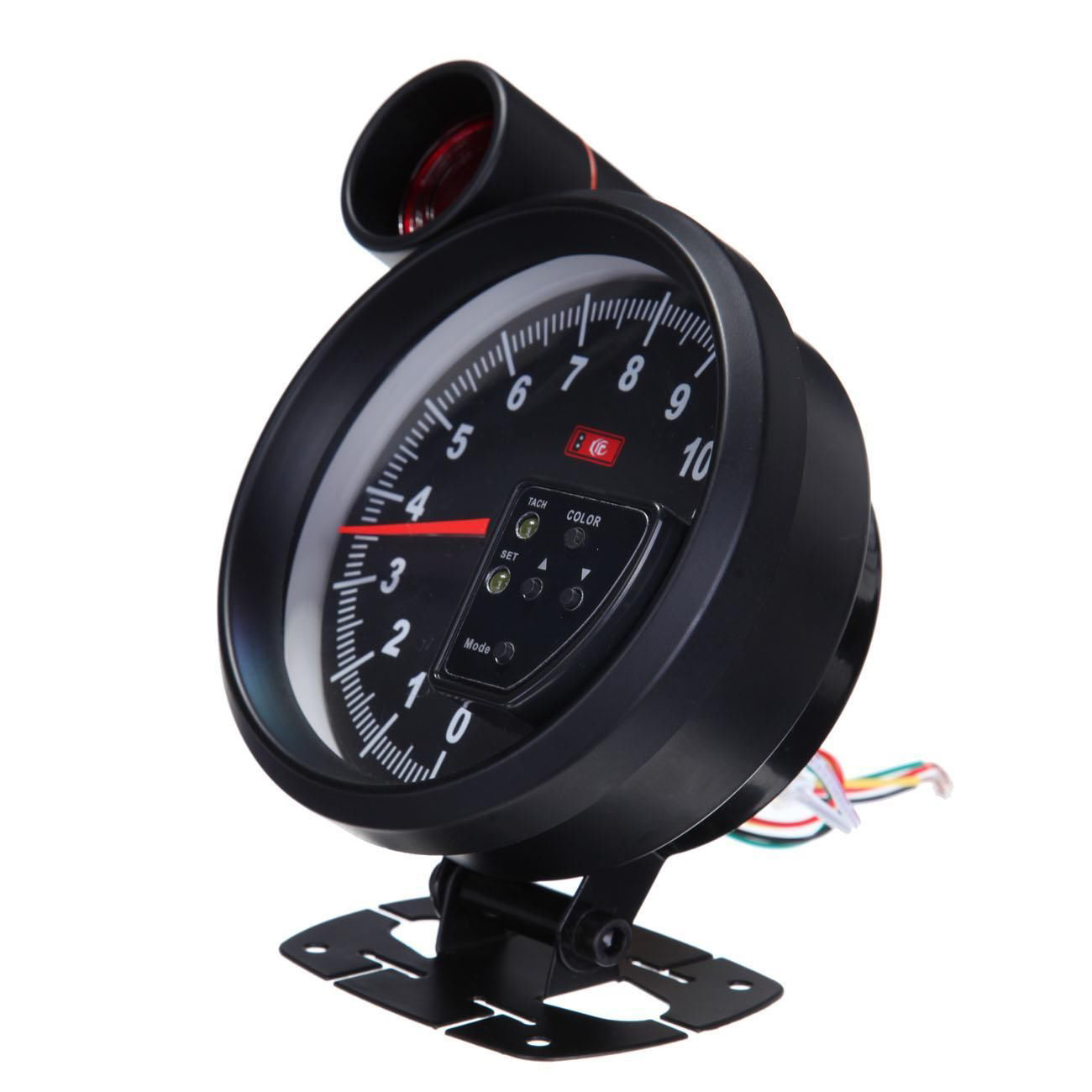 5 adjustable 7 color led tachometer gauge 11k rpm tach. Black Bedroom Furniture Sets. Home Design Ideas