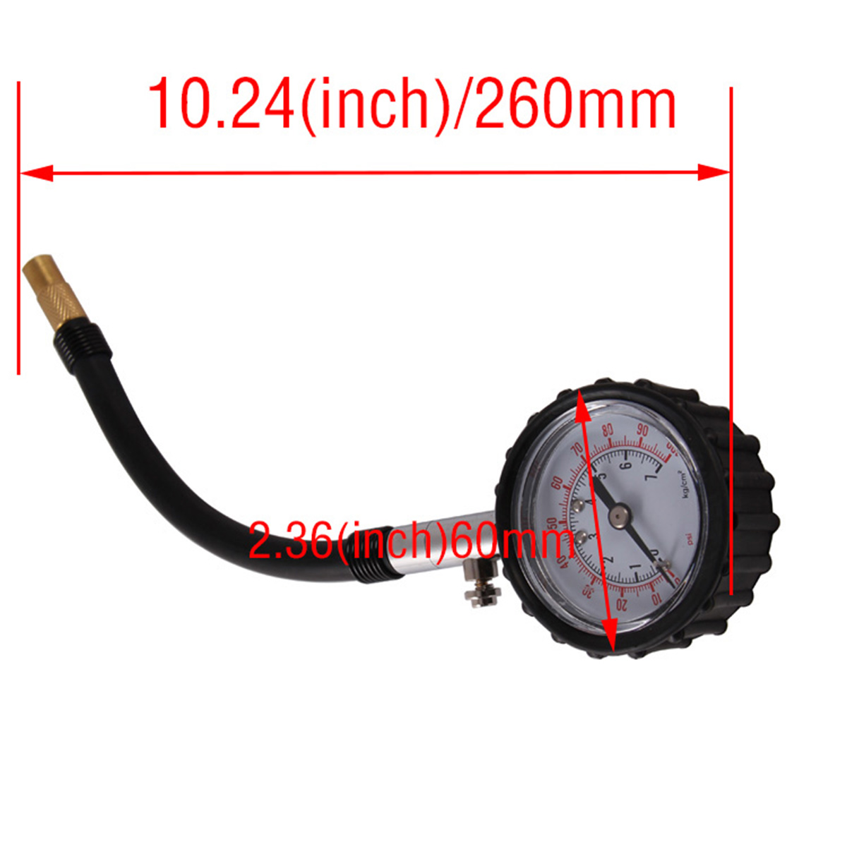 car truck motorcycle tyre tire air pressure guage tester 0 100 psi dial meter ebay. Black Bedroom Furniture Sets. Home Design Ideas