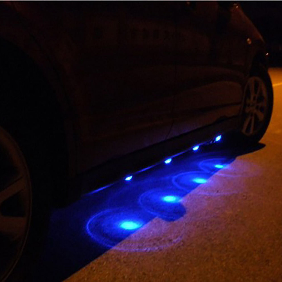 8x led blue car auto underbody glow interior undercar decoration lamp light ebay. Black Bedroom Furniture Sets. Home Design Ideas