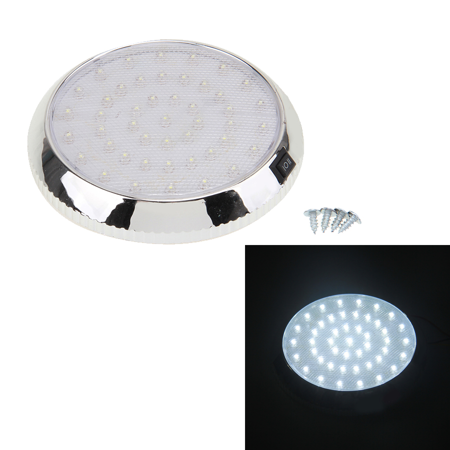 1pcs car vehicle 12v 46 led interior indoor roof ceiling dome light white lamp. Black Bedroom Furniture Sets. Home Design Ideas