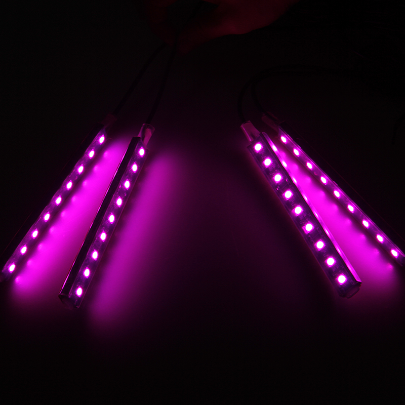 pink car decorative lights charge led interior floor decoration lamp 12v on off ebay. Black Bedroom Furniture Sets. Home Design Ideas