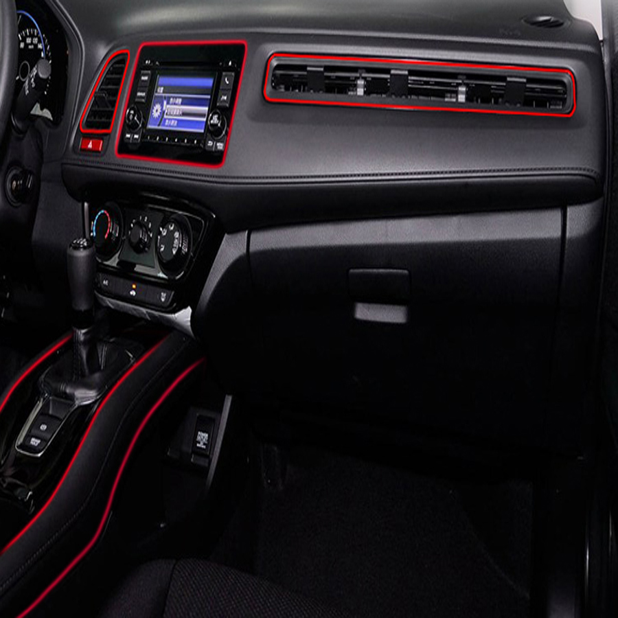 Red 5m Flexible Trim Car Interior Exterior Moulding Strip Decorative Red Decor Ebay