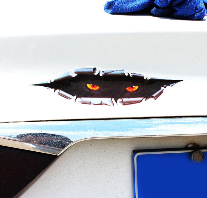 3d Peeking Funny Car Stickers Truck Window Decal Graphics