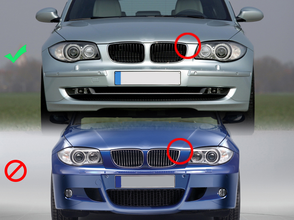 for bmw e81 e82 e87 e88 1 series 06 13 kidney front grilles shiny black m color ebay. Black Bedroom Furniture Sets. Home Design Ideas
