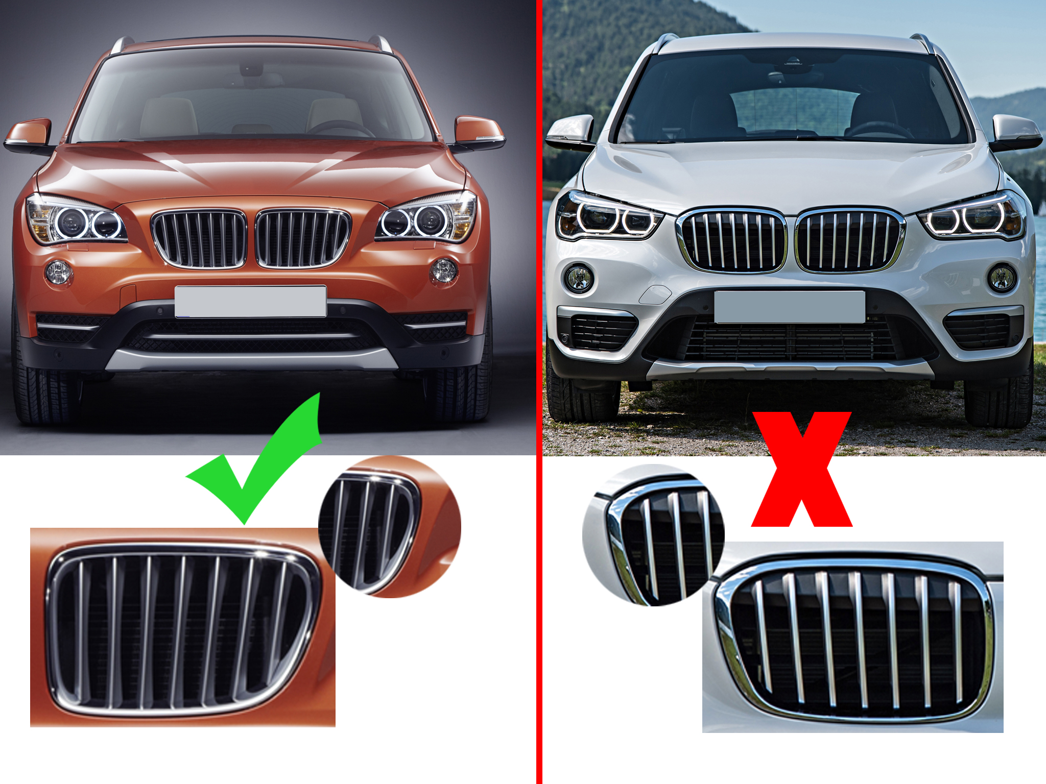 for bmw e84 x1 series 09 15 new pair front kidney grille. Black Bedroom Furniture Sets. Home Design Ideas