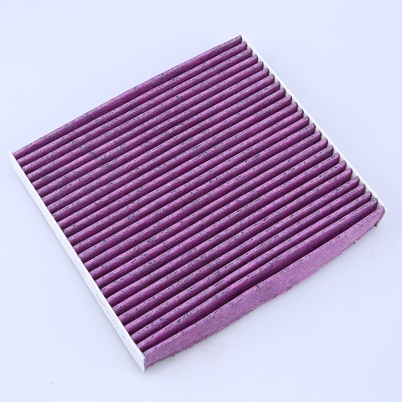hepa activated carbon fiber cabin air pollen filter for