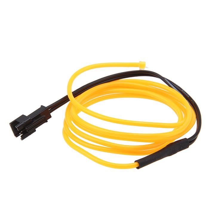 M v led flexible neon light glow el wire rope tube car