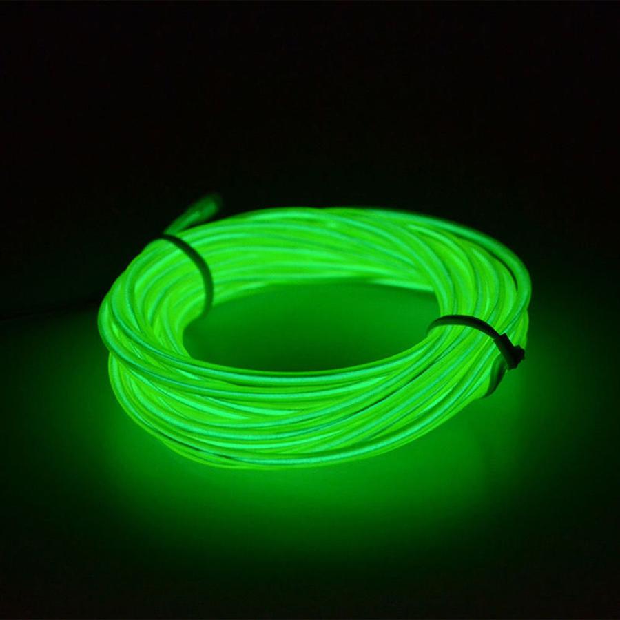 neon glow flexible el strip tube wire light rope. Black Bedroom Furniture Sets. Home Design Ideas