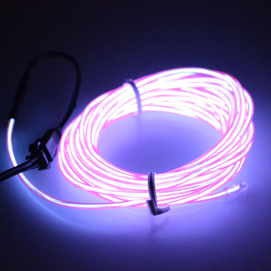 1m car 12v flexible led neon light glow el strip tube wire rope 12v inverter ebay. Black Bedroom Furniture Sets. Home Design Ideas