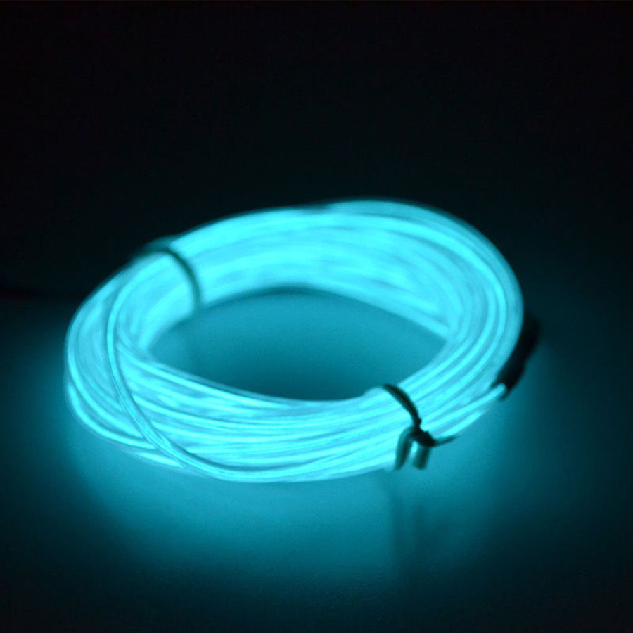 1m car 12v flexible led neon light glow el strip tube wire. Black Bedroom Furniture Sets. Home Design Ideas