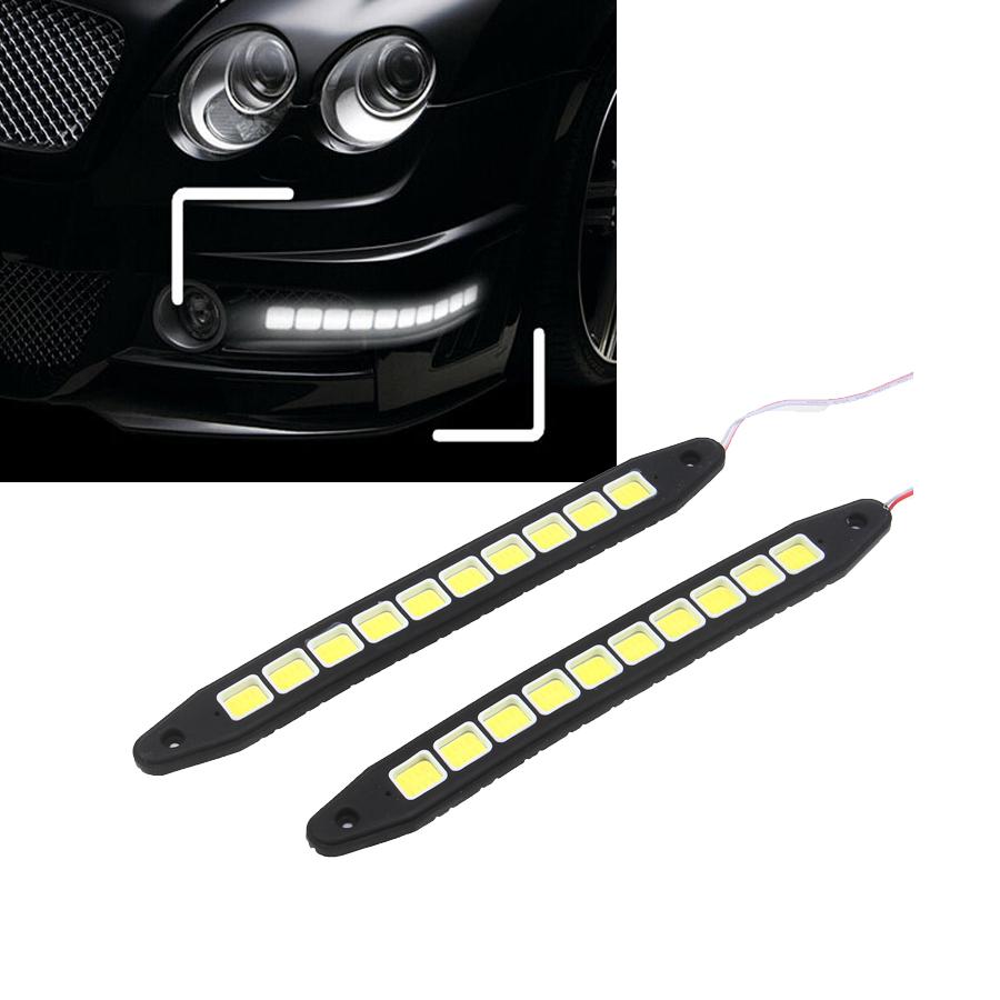 2x car auto 12v cob led daytime running drl fog light bright head driving lamp ebay. Black Bedroom Furniture Sets. Home Design Ideas
