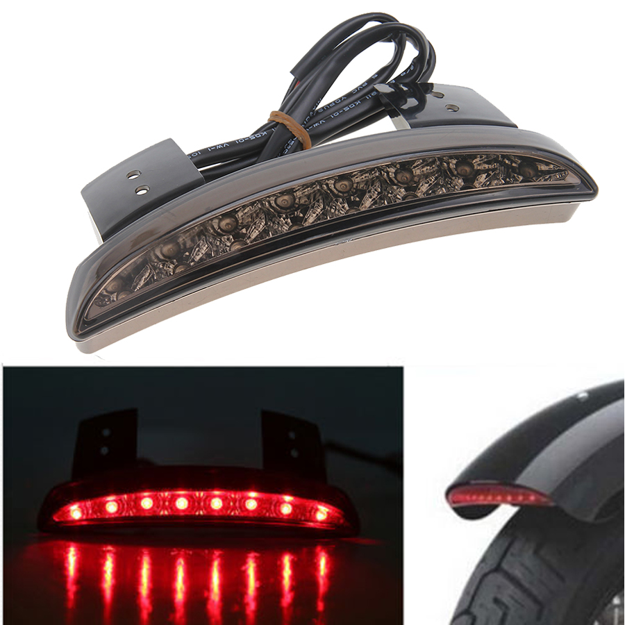 Motorcycle Universal Fender Led Tail Light Without Center