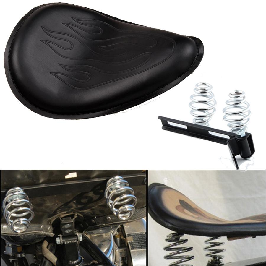 Motorcycle single spring seat