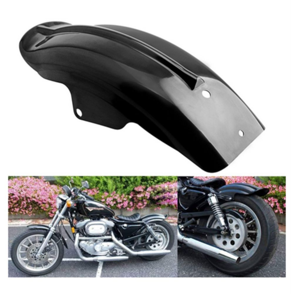 Black Rear Mudguard Fender For Harley Sportster Solo Bobber Chopper