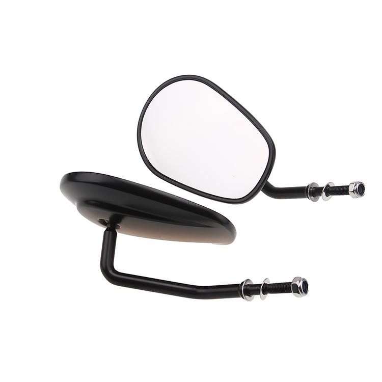 Black rear view mirror for harley fat boyr dyna sportster for Mirror 750 x 1200