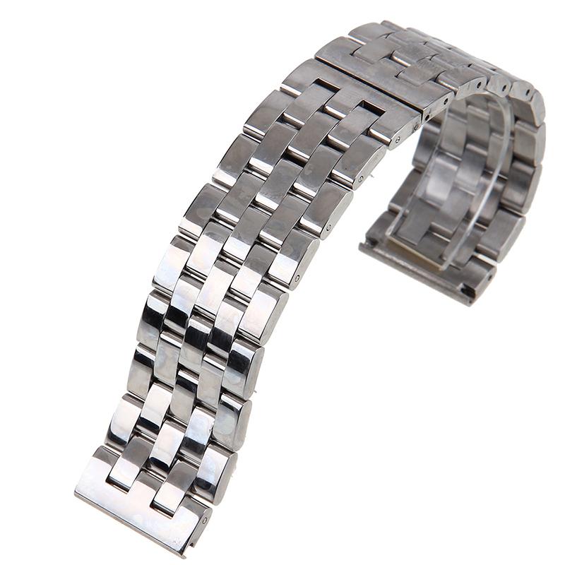 metallarmband 20 22 24 26 mm edelstahl uhrenarmband armband uhren silber schwarz ebay. Black Bedroom Furniture Sets. Home Design Ideas