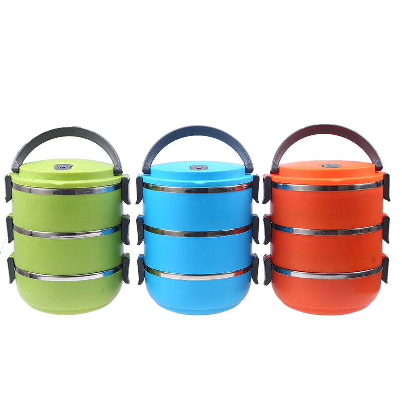 Round Stainless Thermo Food Storage Container Insulated