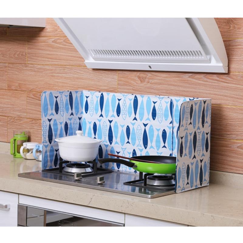 Flexible kitchen frying oil splash guard gas stove baffle - Oven splash guard ...