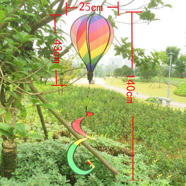 1 X Hot Air Balloon Wind Spinner
