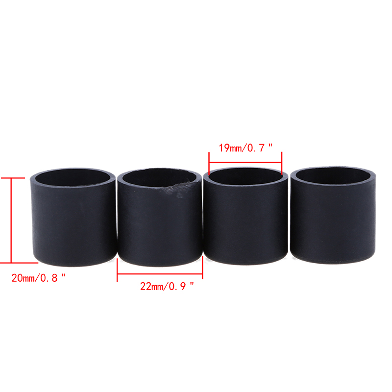 4x Round Rubber Chair Leg Caps Feet Pads Table Covers Home