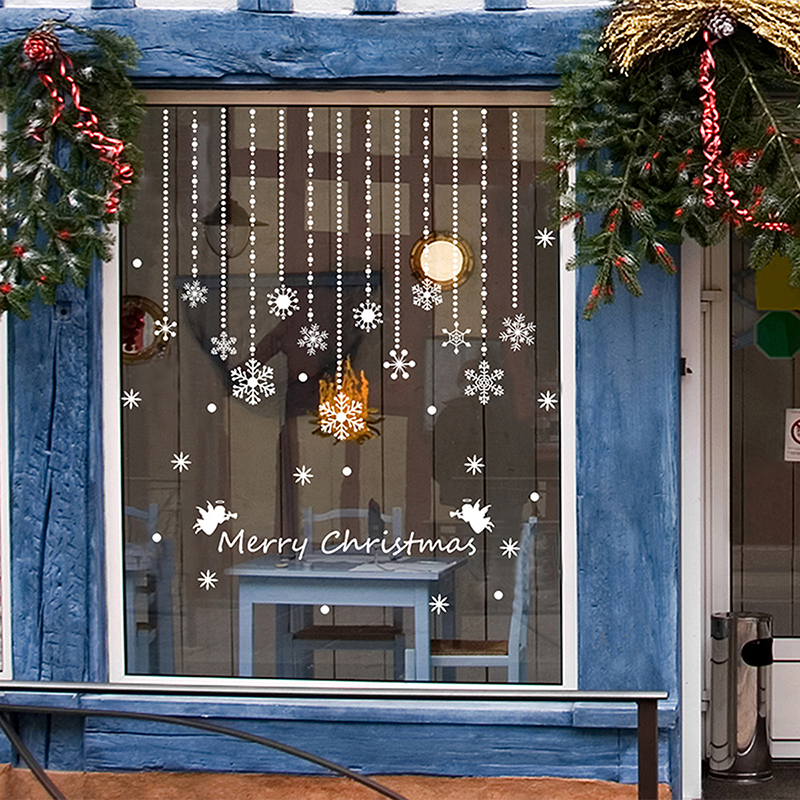 fenstersticker fenster deko winter advent weihnachten fensterbilder aufkleber ebay. Black Bedroom Furniture Sets. Home Design Ideas