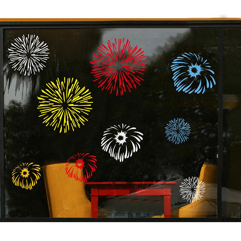 fenster deko sticker weihnachtsmann baum weihnachten fensterbild schneeflocke ebay. Black Bedroom Furniture Sets. Home Design Ideas