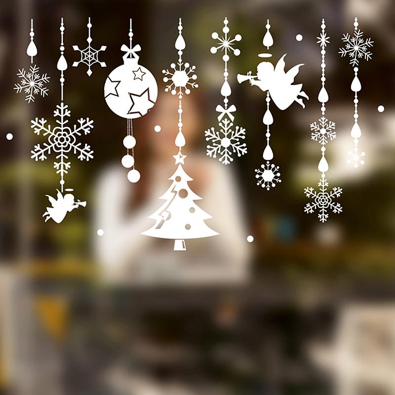 weihnachtsdeko fenster deko weihnachten christmas wandtattoos dekoration frohe ebay. Black Bedroom Furniture Sets. Home Design Ideas