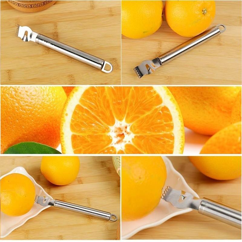 Stainless steel lemon zester orange citrus peelers grater