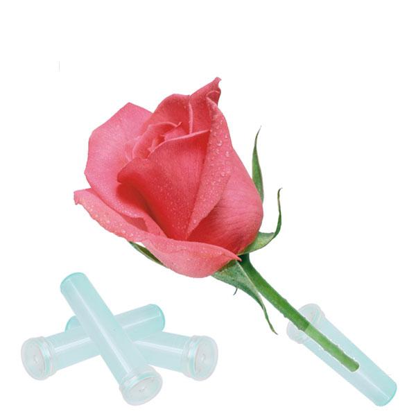 25Pcs Fresh Floral Water Tube Plastic Artist Decor Flower ...