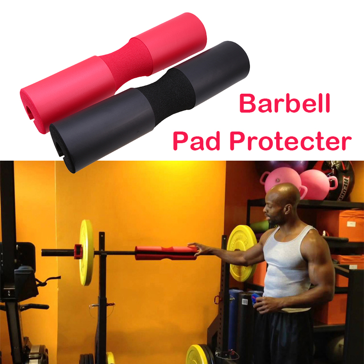 Gym olympic cushioned weight lifting bar barbell pad