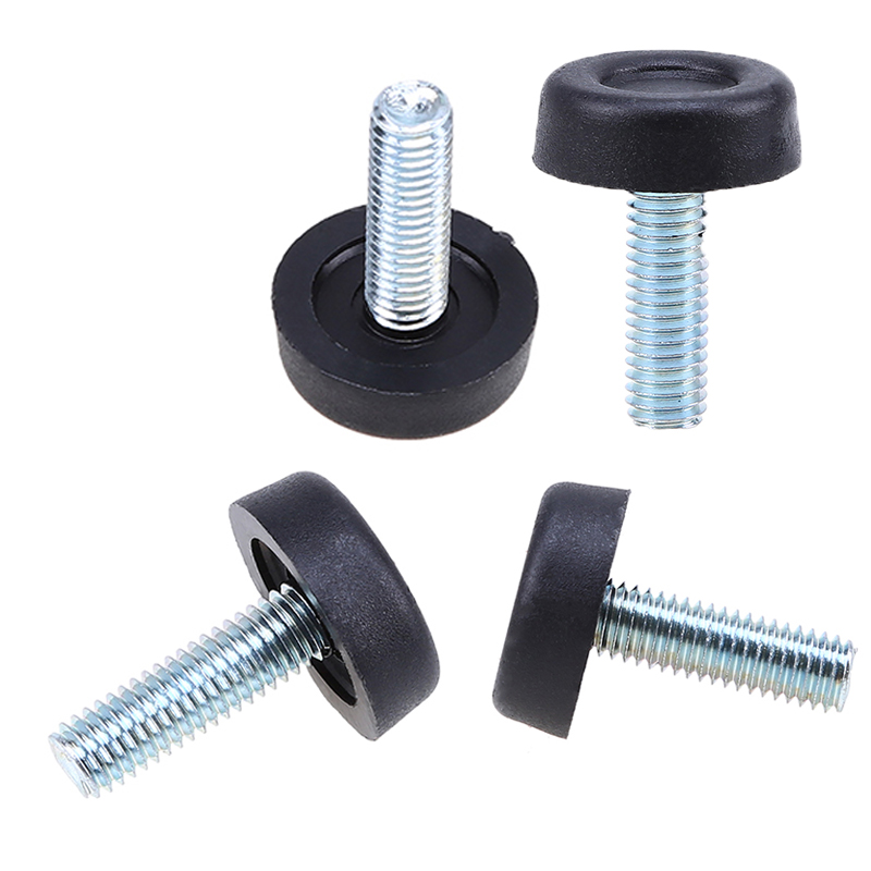 1 4pcs thread table desk adjustable levelling foot feet screw on 24mm base ebay - Threaded furniture feet ...