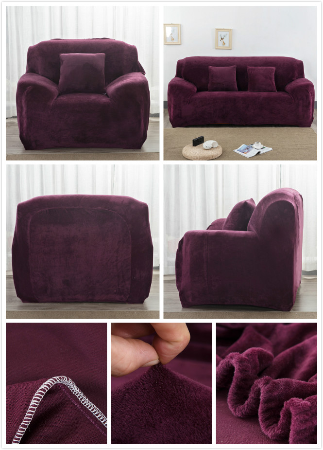 plush stretch couch sofa cover for 1 2 3 4 seater winter. Black Bedroom Furniture Sets. Home Design Ideas