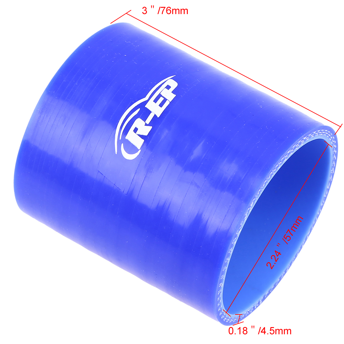 2 1//4 to 2 1//2 2.24-2.5 57mm 63mm Straight Reducer Silicone Turbo Coupler Hose Black
