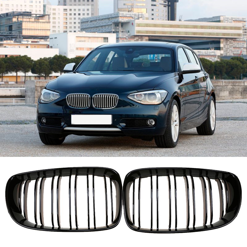 Bmw 128i Price: Gloss Black Kidney Grill Grille For BMW 1 Series E81 E82