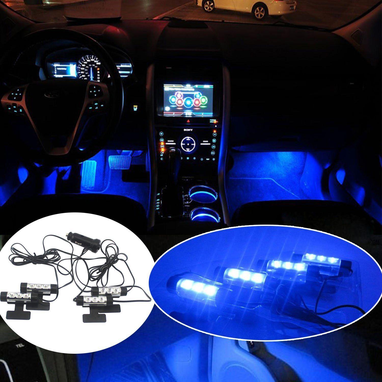 4 Color LED Car Interior Flash Light Under Dash Footwell Inside Atmosphere Lamp