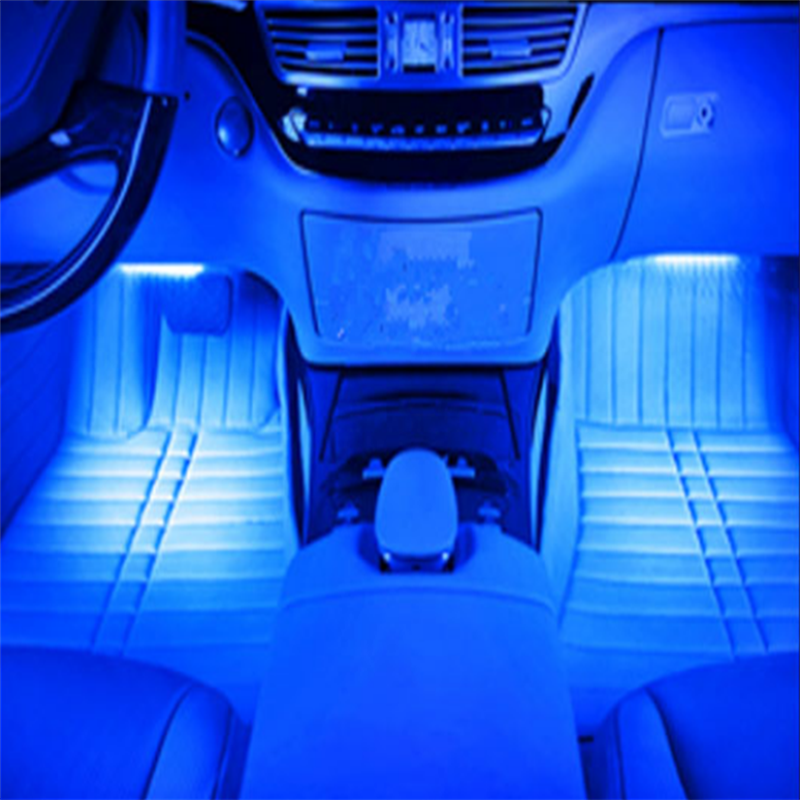 Car suv led interior atmosphere under dash floor footwell led light feature car interior decorative lights aloadofball Images