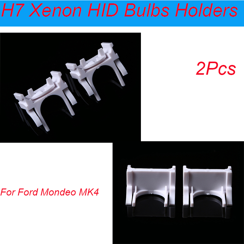 Pair Headlight Low Beam H7 HID Xenon Bulb Holder Adapter for Ford Mondeo Mk4 UK