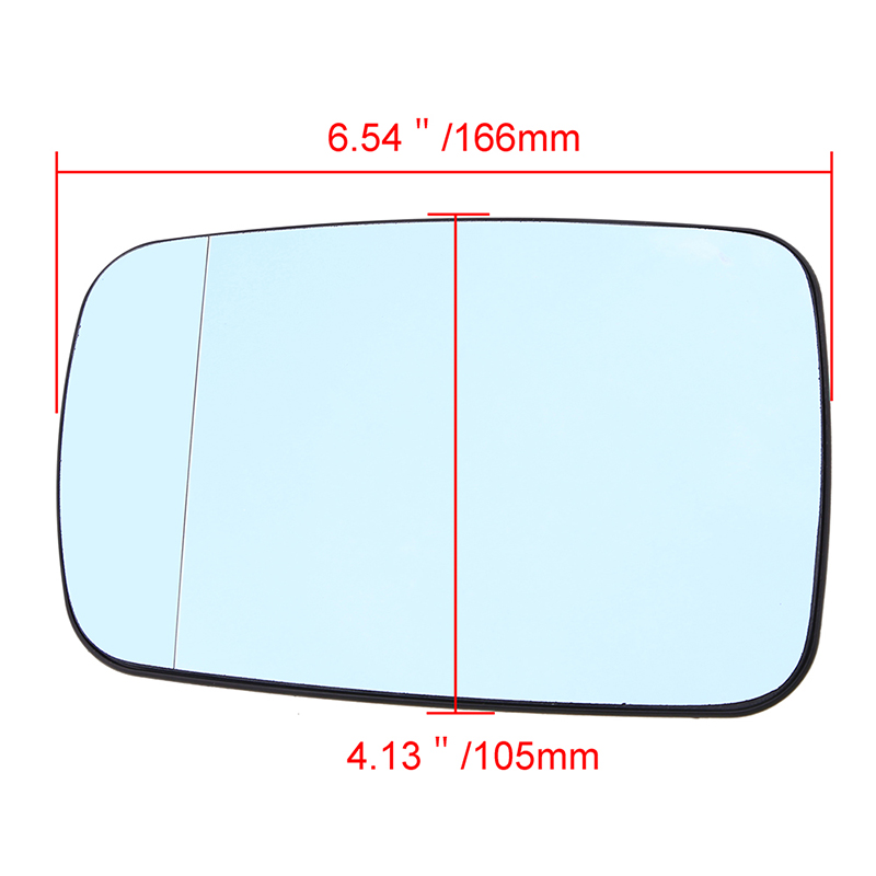Driver Side Blue Door Wing Mirror Glass Heated For BMW E46 E65 3 7 Series