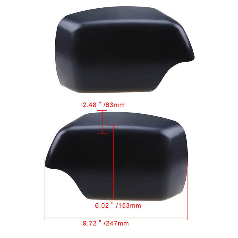 Pair Rear View Mirror Covers For BMW X5 E53 3.0d/3.0i/4.4i