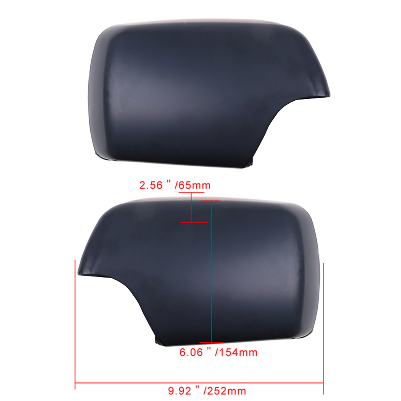 Side Mirror Cover With LED Step Light Primer Finish for BMW E53 X5 00-06 2Pcs