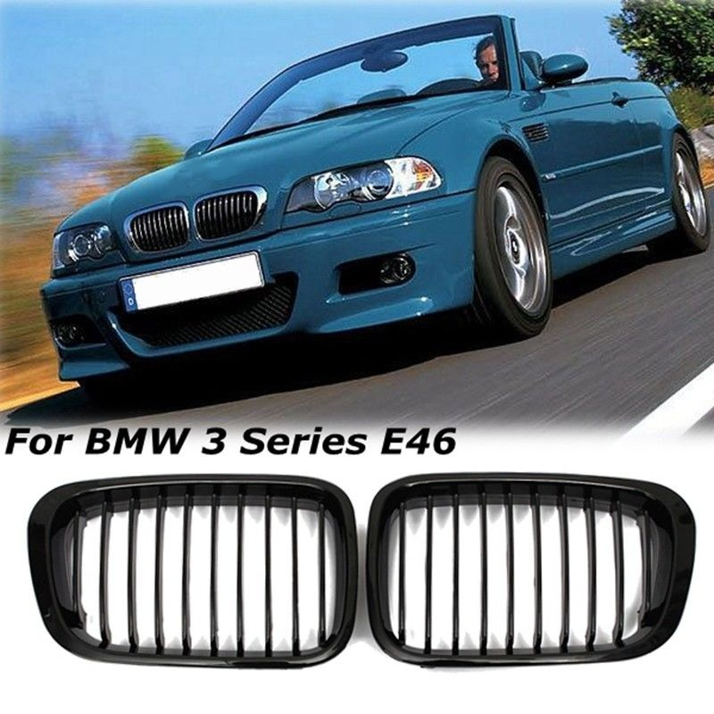 Bmw Grills: Gloss Black Kidney Grille Grill For BMW 3-Series E46