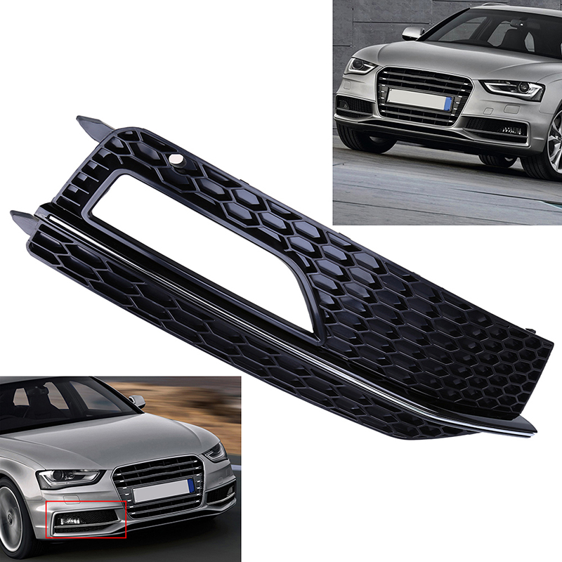 right front bumper fog light grill cover for audi a4 b8 12. Black Bedroom Furniture Sets. Home Design Ideas
