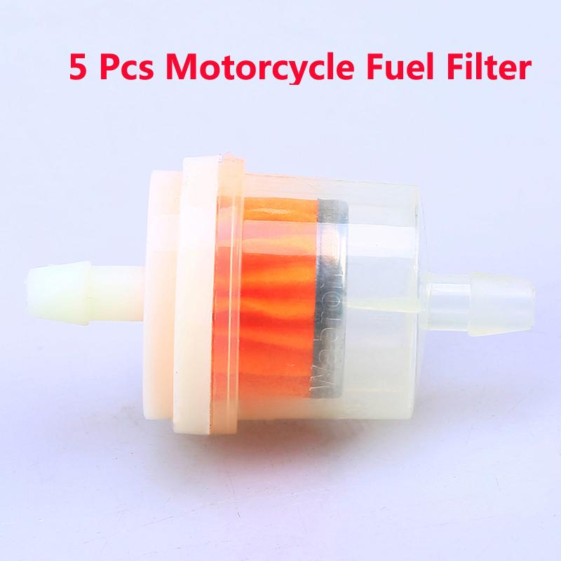 "10 pc  Motorcycle Go Kart Gasoline Fuel Filter Gas Fuel 1//4/"" 6-7mm Hose filters"