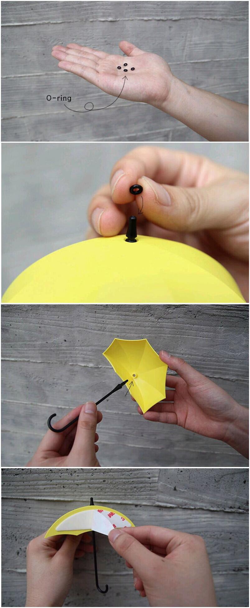 Umbrella Design Wall Hooks Key Hanger Sundries DIY Home Door Wall ...