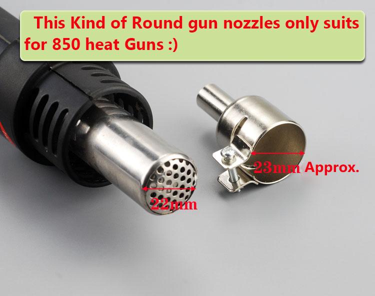 MagiDeal 3mm+4mm+5mm+6mm Resisting Heat Gun Nozzles Hot Air Gun for 850 850A