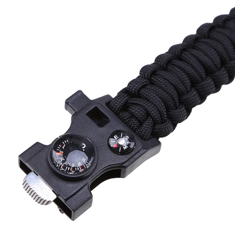 Survival hiking shoe lace fire tinder lighter flint tool for Paracord lighter holder